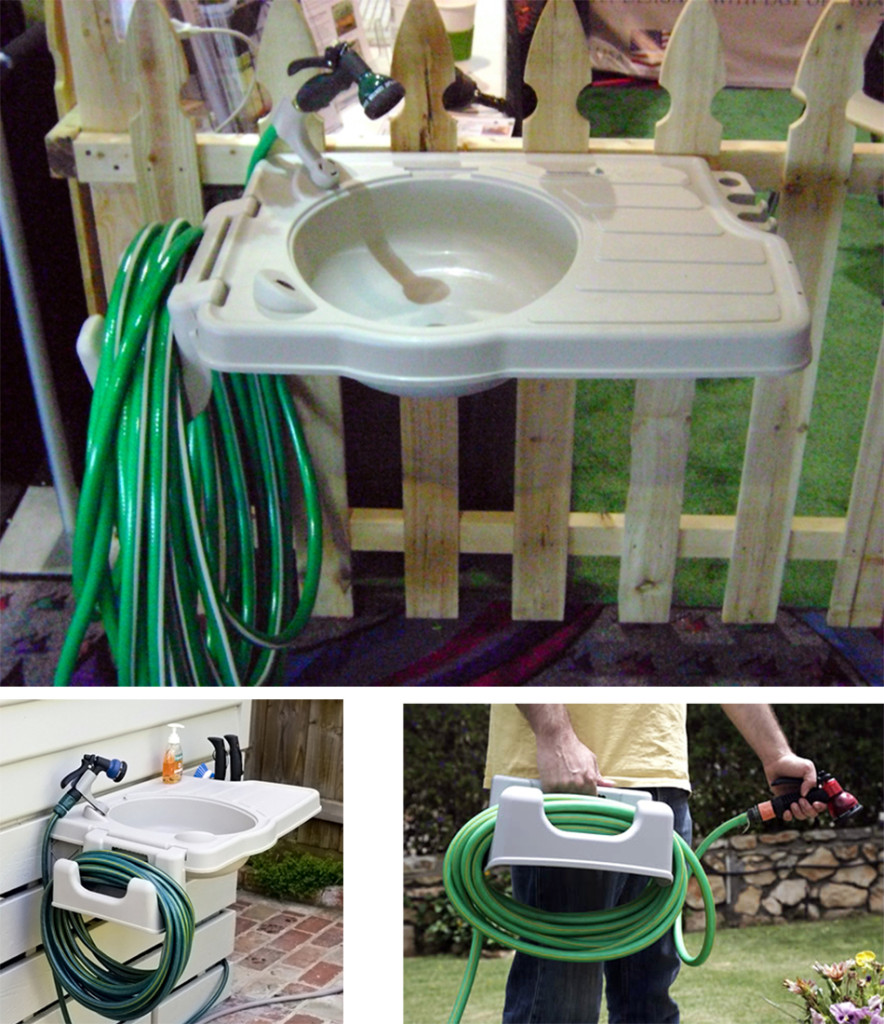 Outdoor Sink with Detatchable Hose Reel Mounting Hardware ... on Outdoor Patio Sink id=95225