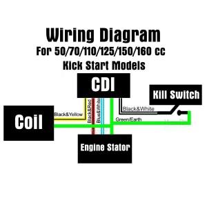 All Electrics 110cc 125cc 140cc CDI Coil Harness Pit Dirt Bike Atomok TDR Pitpro   eBay