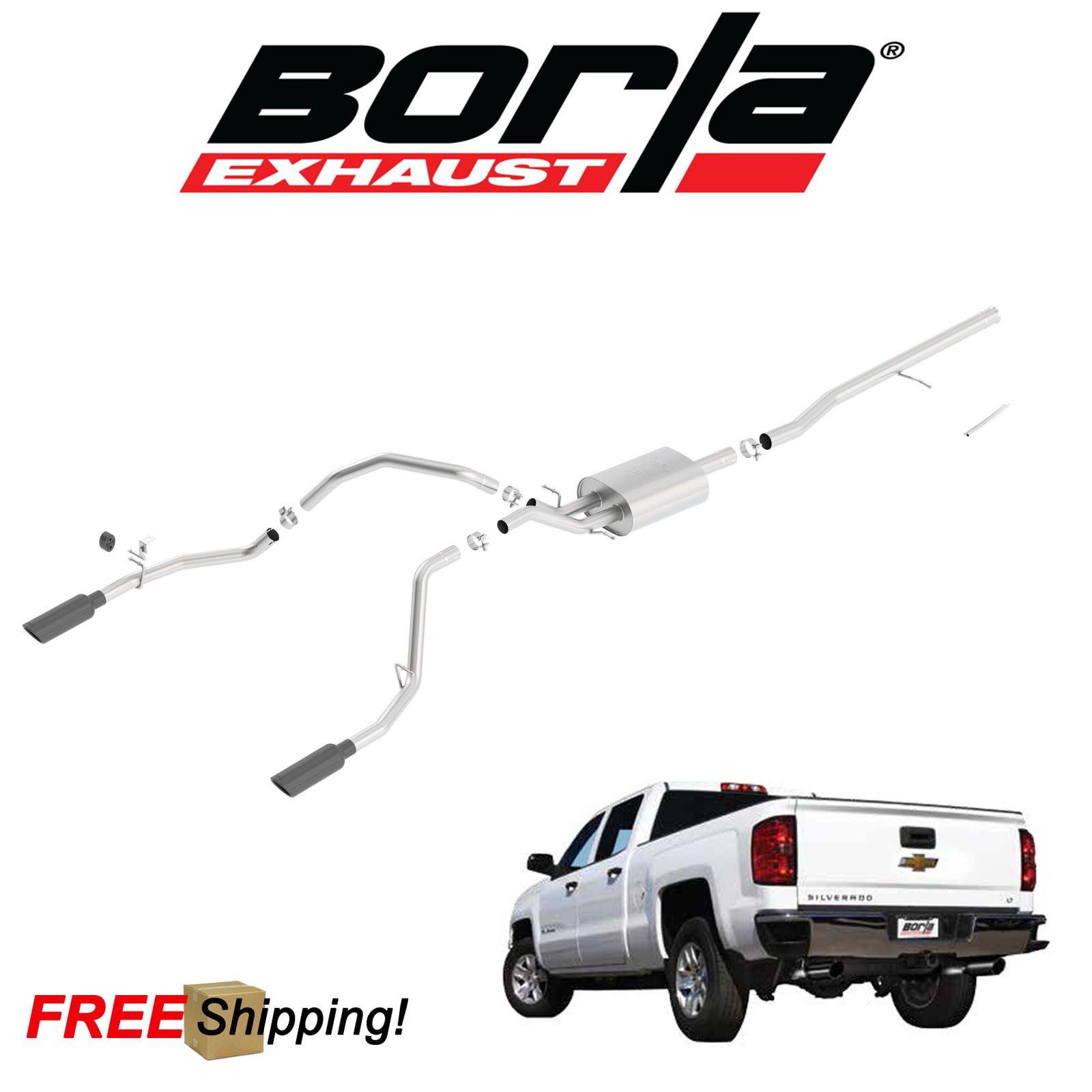 details about borla s type cat back performance dual exhaust 2014 2018 gmc sierra 1500 5 3l v8