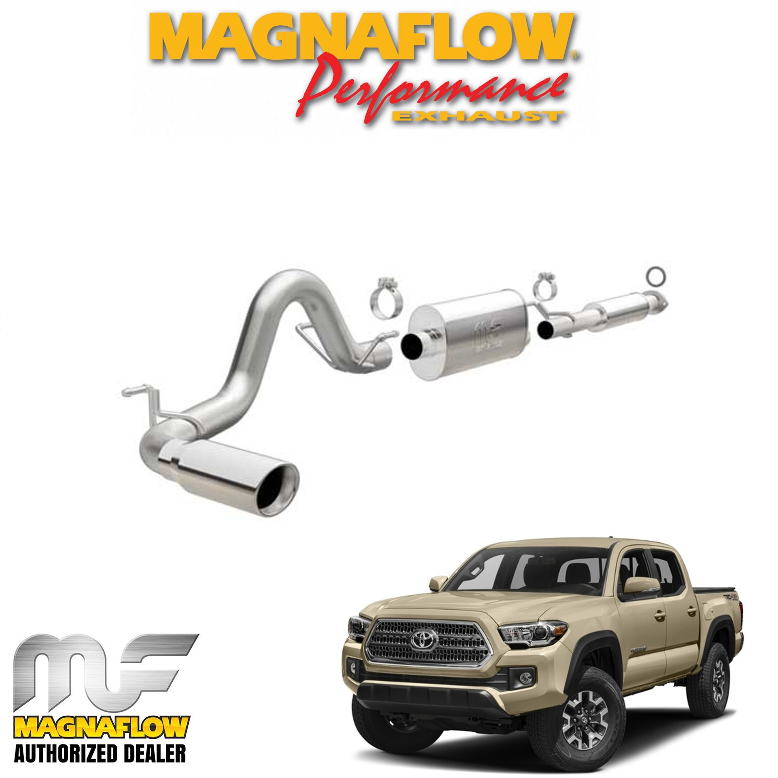 details about magnaflow 3 cat back exhaust system 2016 2019 toyota tacoma 3 5l v6 crew cab