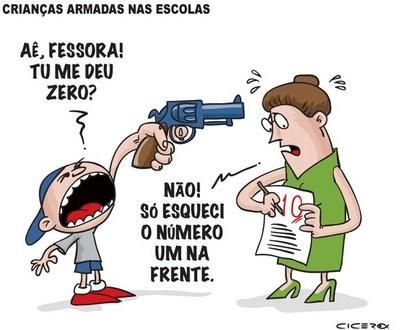 Brasil lder mundial em agresso a professores Profisso de risco sem direito a adicional de periculosidade