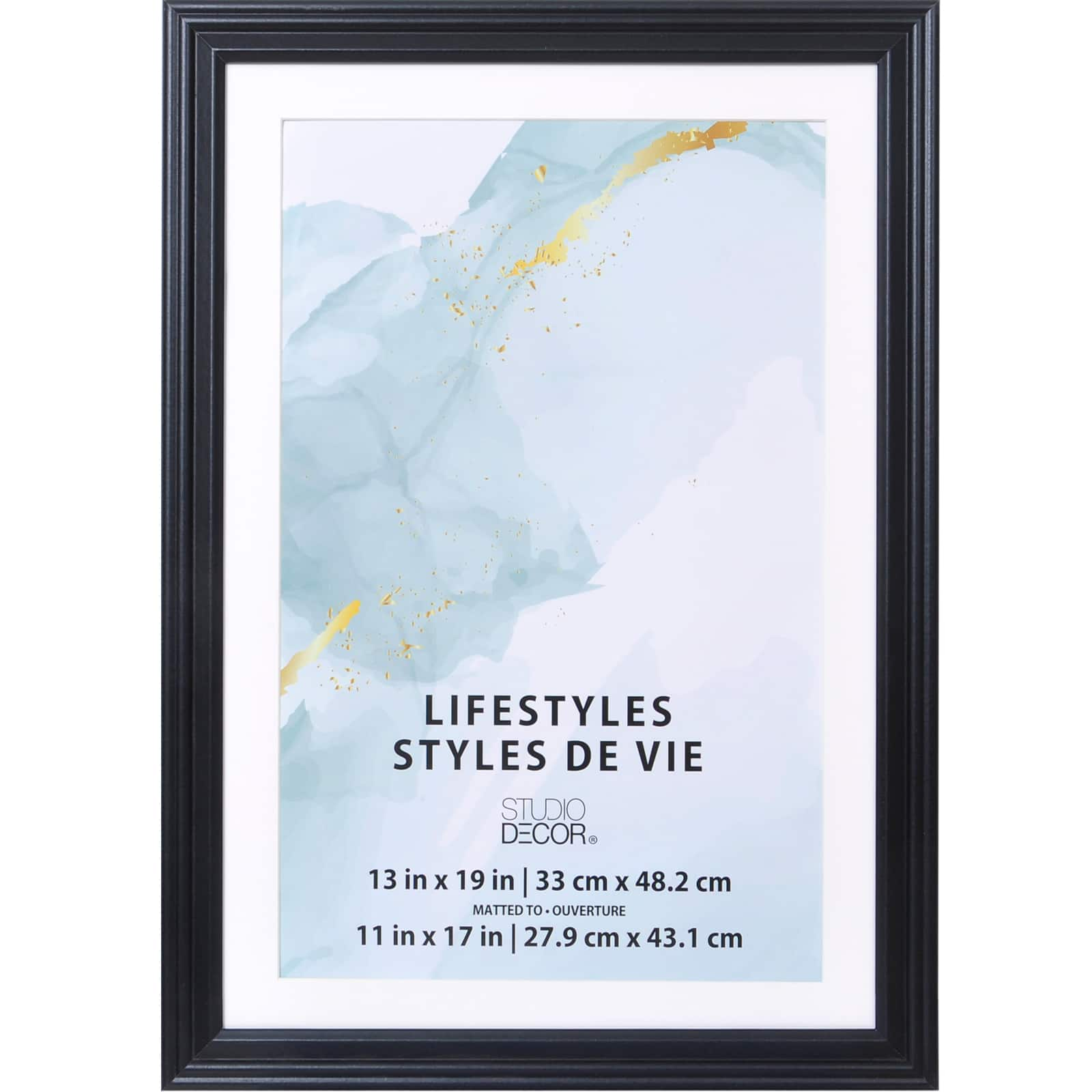 9 pack black 11 x 17 frame with mat lifestyles by studio decor