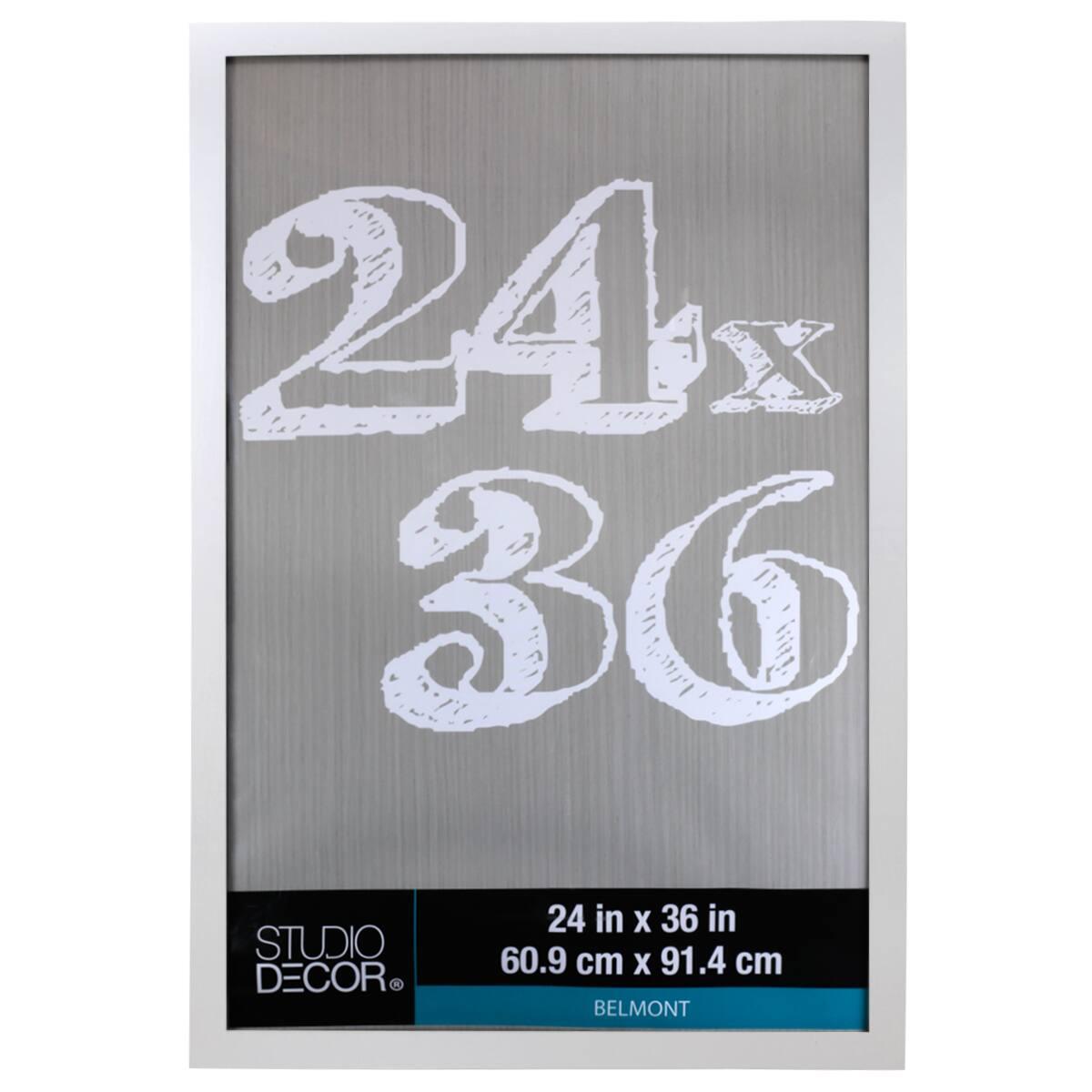 6 pack white 24 x 36 belmont frame by studio decor
