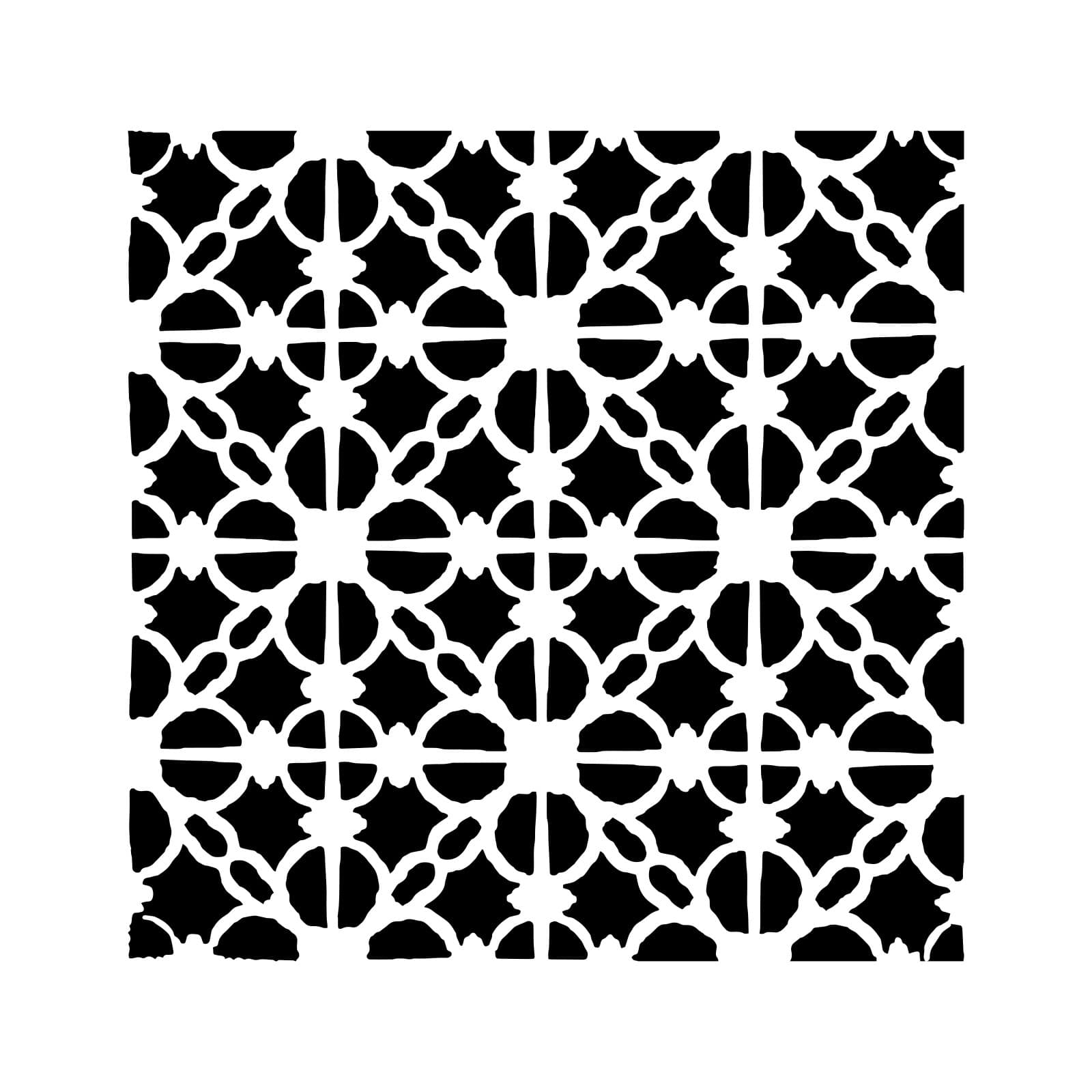 the crafter s workshop linked tiles stencil 12 x 12