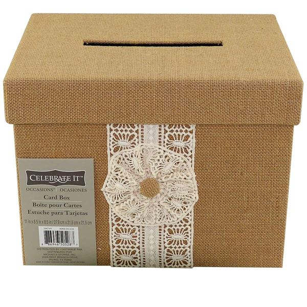 Wedding Card boxes  Envelope Holders at Michaels Weddings celebrate it       occasions       burlap card box