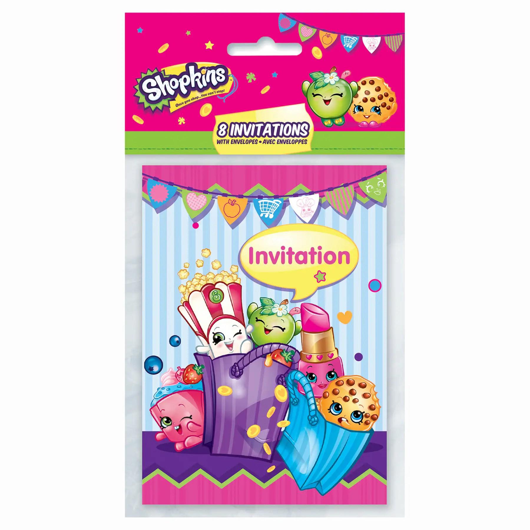 shopkins invitations 8ct