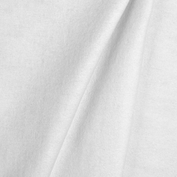 heavy flannel drapery lining white