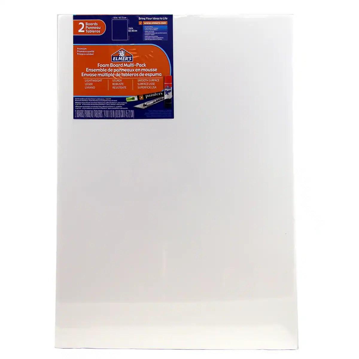 elmer s foam board 18 x24 2pk