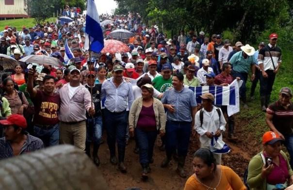 Día Internacional de la Mujer: Francisca Ramírez es una campesina del sureste de Nicaragua que ha liderado cerca de un centenar de marchas contra el proyecto de un canal interoceánico que afectaría una de las zonas boscosas más ricas de Centroamérica. Foto: Aracelly Hurtado.