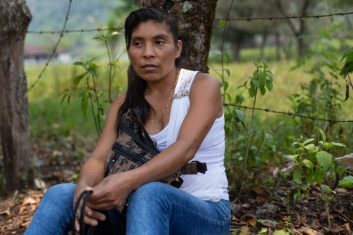 Pacífica Ixquisis de Guatemala, organización que protesta por la construcción de la hidroeléctrica de San Mateo. Foto: Global Witness / James Rodriguez.