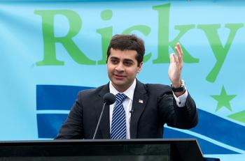 Republican candidate for Congress Ricky Gill speaks at a May, 2011 event. (source: SF Gate)