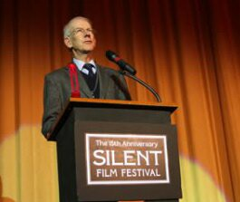 Kevin Brownlow speaking at last year's Festival. (Photo courtesy of the SFSFF)