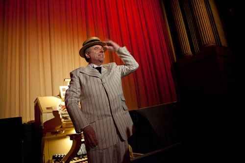 The one and only Dennis James. (photo courtesy of the San Francisco Silent Film Festival).