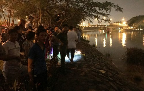 Trắng đêm tìm kiếm nữ kiểm sát viên ôm con nhảy sông