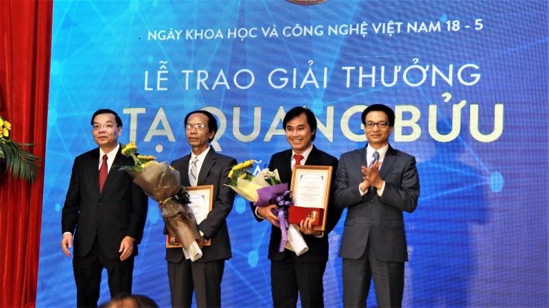 giải thưởng tạ quang bửu,công bố quốc tế