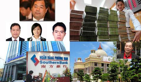 Trầm Bê, Trầm Khải Hòa, Sacombank, SouthernBank, Ngân hàng Phương Nam, Đặng Văn Thành, Lê Hùng Dũng