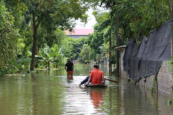 lũ lụt, mưa lụt, ngập lụt, lũ lụt ở Chương Mỹ, lũ lụt ở Hà Tây, vỡ đê