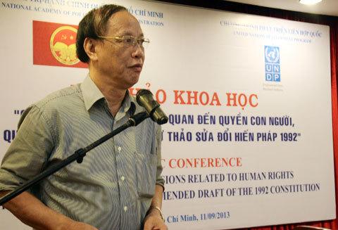 quyền con người, quyền công dân, hiến pháp, Trần Ngọc Đường, Nguyễn Đăng Dung