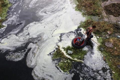 Trung Quốc, ô nhiễm, môi trường, nguồn nước, sông hồ, nghiêm trọng, một nửa, hình ảnh