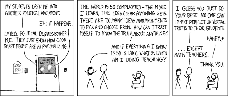 a(b+c)=ab+ac -- Politicize this! (from http://xkcd.com/)