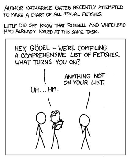 Hey Godel, were compiling a comprehensive list of fetishes..