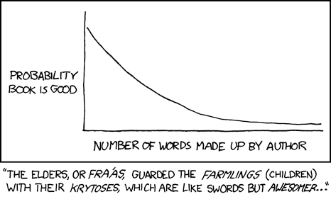 xkcd Fiction Rule of Thumb comic