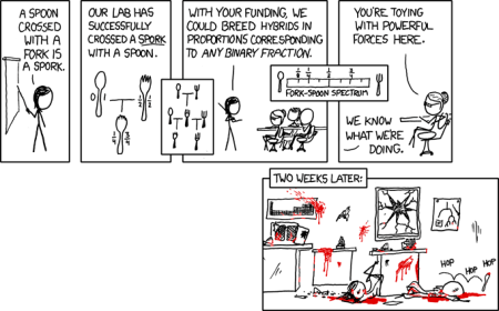 xkcd comic about Sporks