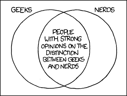 Geeks and Nerds: a cartoon from XKCD