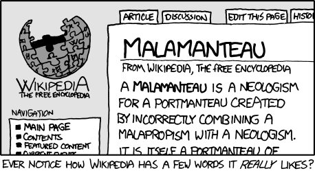 The original appearance of Malamanteau