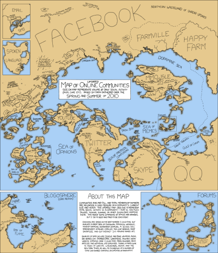 XKCD online communities map