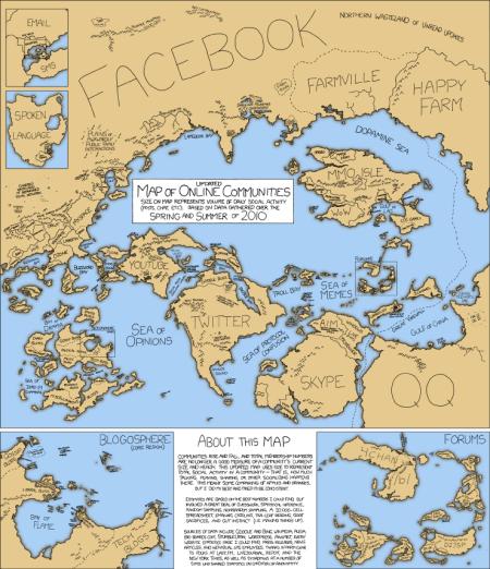 XKCD online communities map