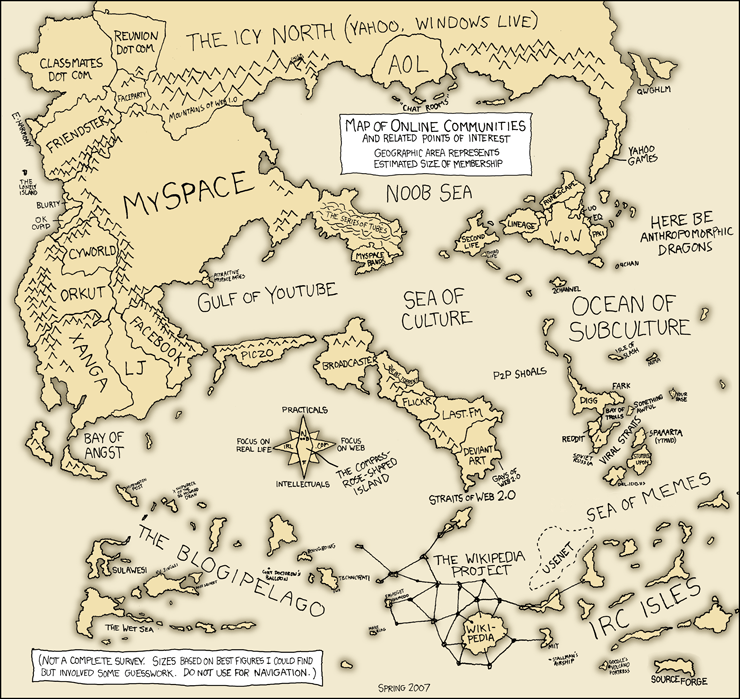 The Rise and Fall of Empires: Randall Munroe Maps the Internet