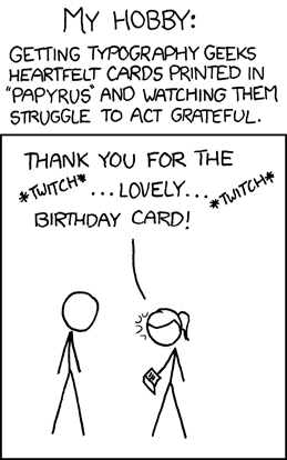 XKCD: Papyrus