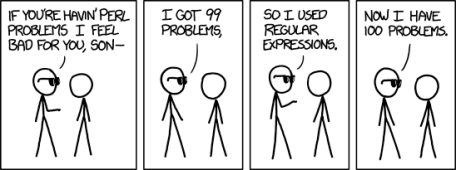xkcd regexp problems