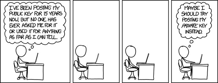 xkcd: Public Key (Click to go to the orginal)