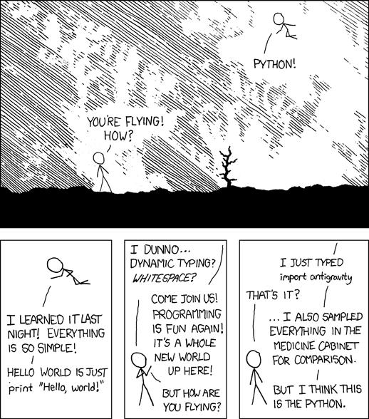 XKCD Python comic