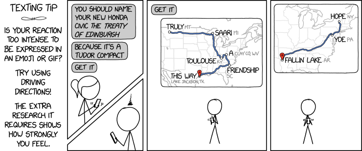 xkcd: Reaction Maps