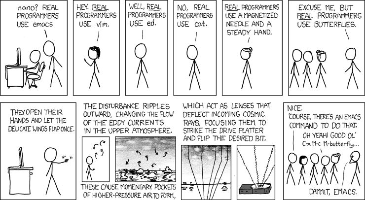 Real Programmers (from XKCD)