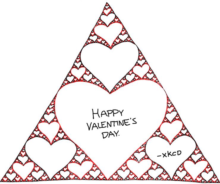 Sierpinski Valentine by xkcd