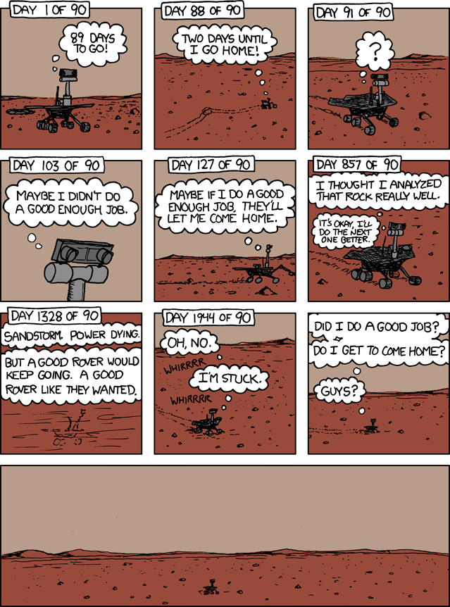 Image result for opportunity rover death comic