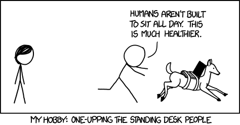 One-upping the Standing Desk comic