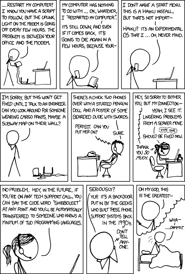 Tech Support by xkcd