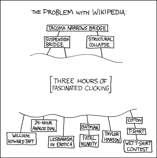 The problem with wikipedia (xkcd.com)