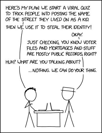 Viral Quiz Identity Theft