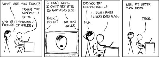 xkcd examines Windows 7