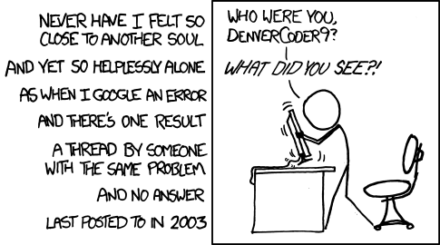 Who are you, DenverCoder9?!? (Thanks XKCD)