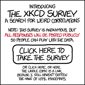 xkcd survey webcomic call to action