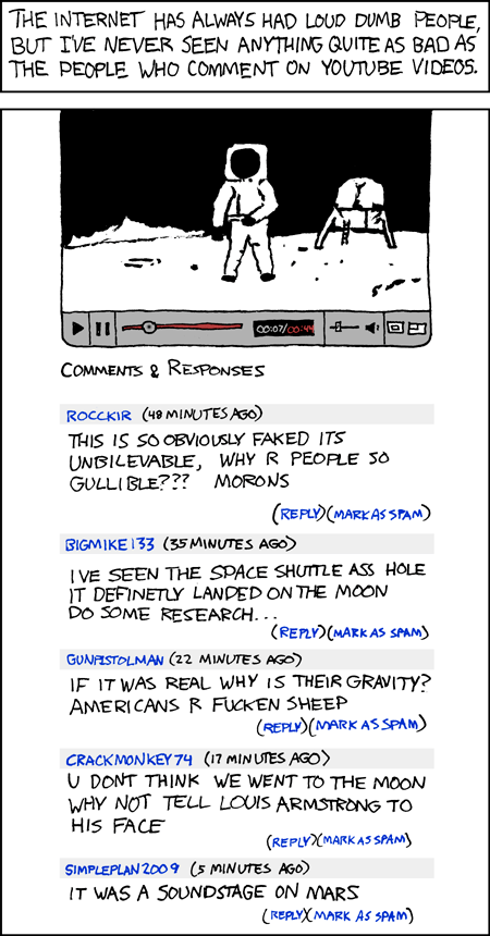 YouTube as described by xkcd