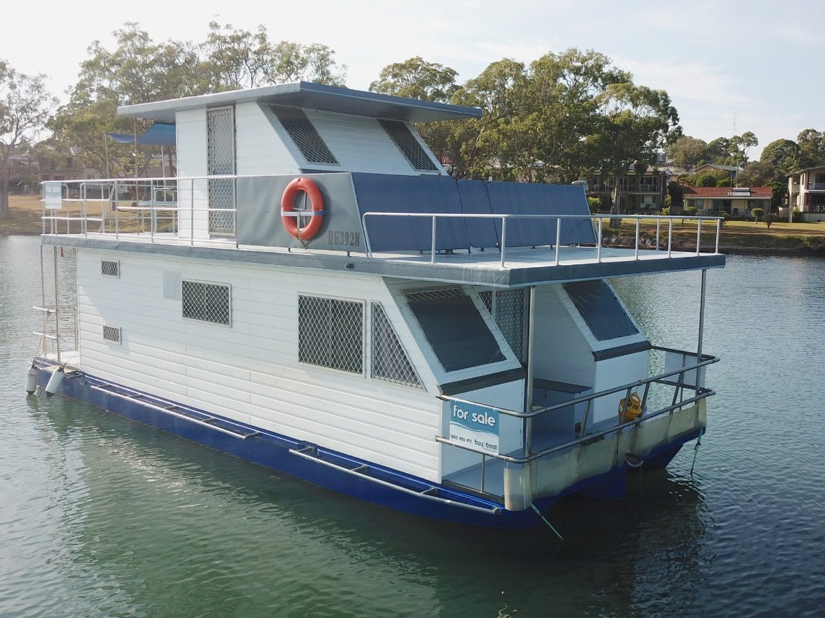Used 33 Custom Steel House Boat For Sale Boats For Sale