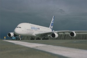 Airbus A380 comes to Edinburgh Airport